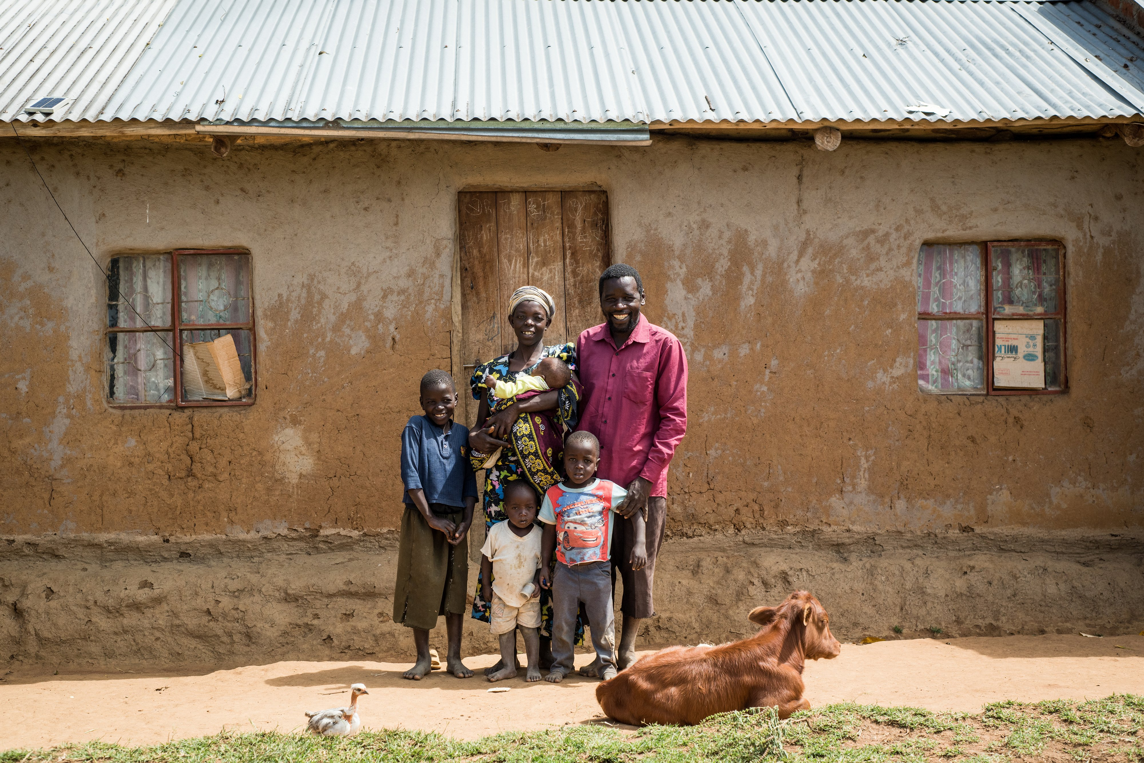 Elphas Simiyu and family