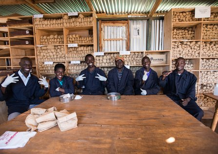 Members of Kenya's soil lab team