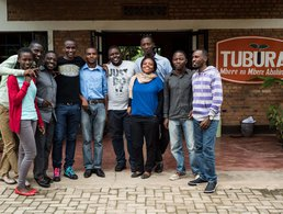 One Acre Fund interns outside our offices in Rubengara, Rwanda