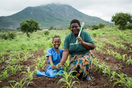 Yvonne Philip and her daughter Promise in Chiradzulu, Malawi